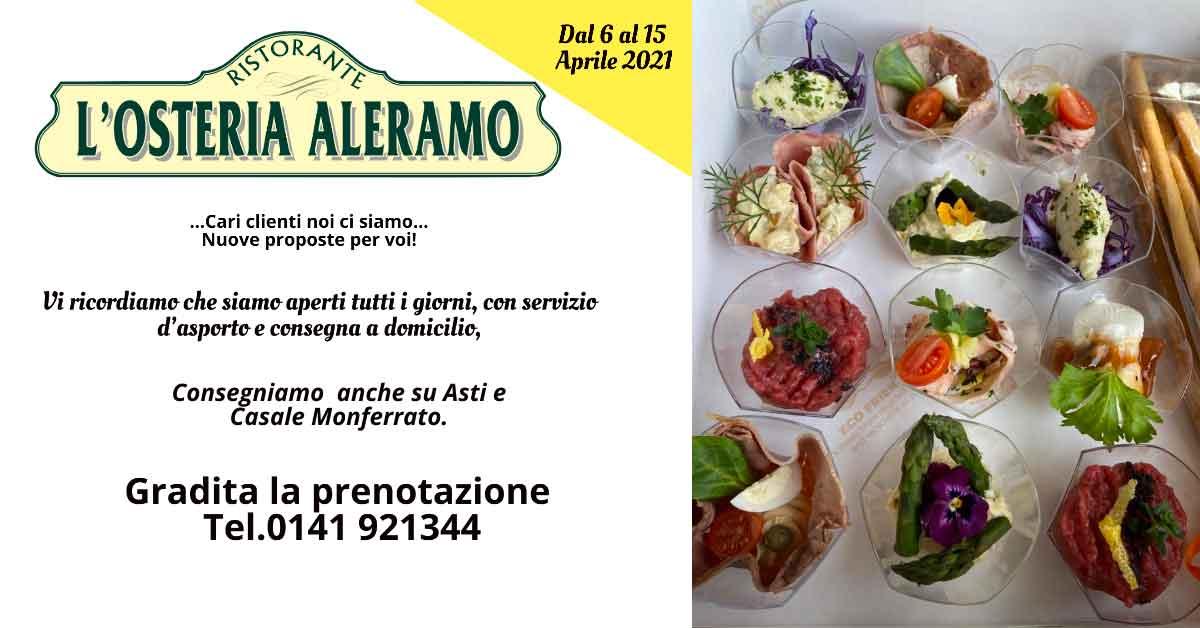 Read more about the article Menù dal 6 al 15 Aprile